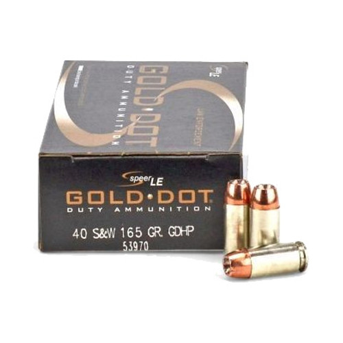 Speer .40 165GR Gold Dot Hollow Point - 53970