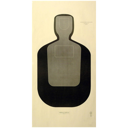 "National Target 24"" x 42"" NRA Official Training and Qualification Paper Target - Case of 250 - TQ-19"