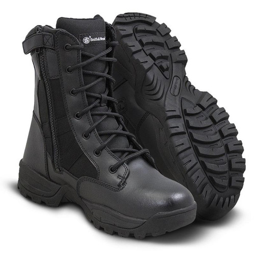 "Smith & Wesson Breach 2.0 Waterproof 8"" Side-Zip Men's Black Boot - 810401"