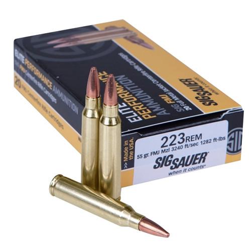 Sig Sauer E223B1-20 Elite Performance 223 Remington 55 Grain Elite Ball FMJ Ammo