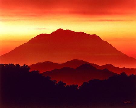 Mirage Sunset Mountain