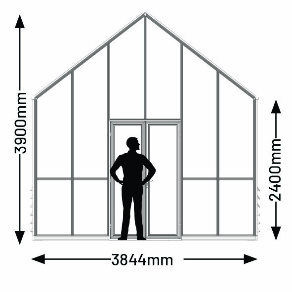12ft greenhouse width and height dimensions