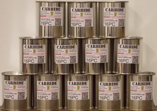 12 cans of PEA grade Calcium Carbide