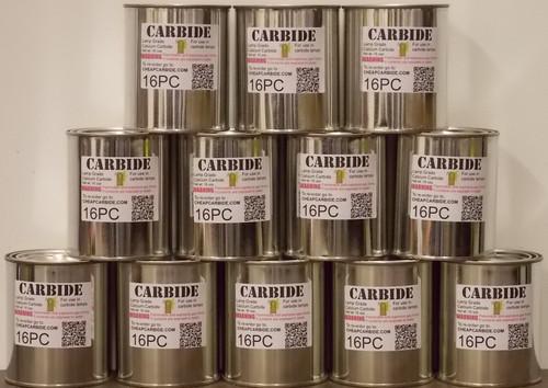 12 cans of PEA grade Calcium Carbide