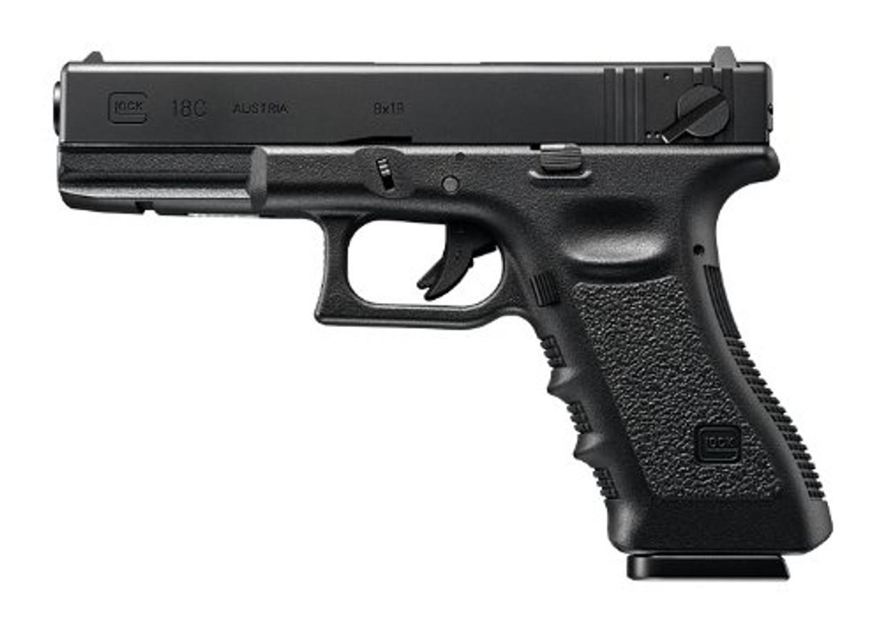 Muzzle left of Tokyo Marui No.44 Glock 18C Full Auto Gas blow back Airsoft Gun