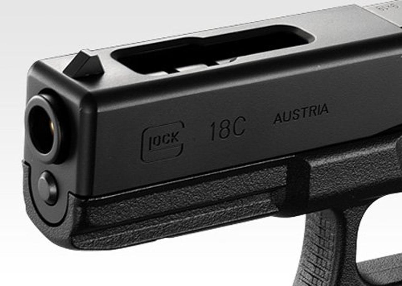 Muzzle of Tokyo Marui No.44 Glock 18C Full Auto Gas blow back Airsoft Gun