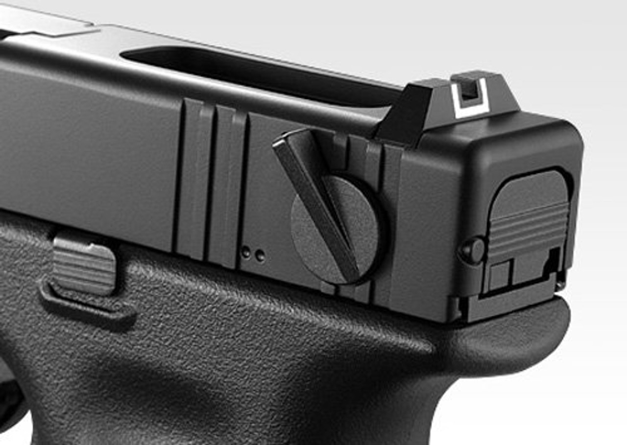 Close up picture of Tokyo Marui No.44 Glock 18C Full Auto Gas blow back Airsoft Gun