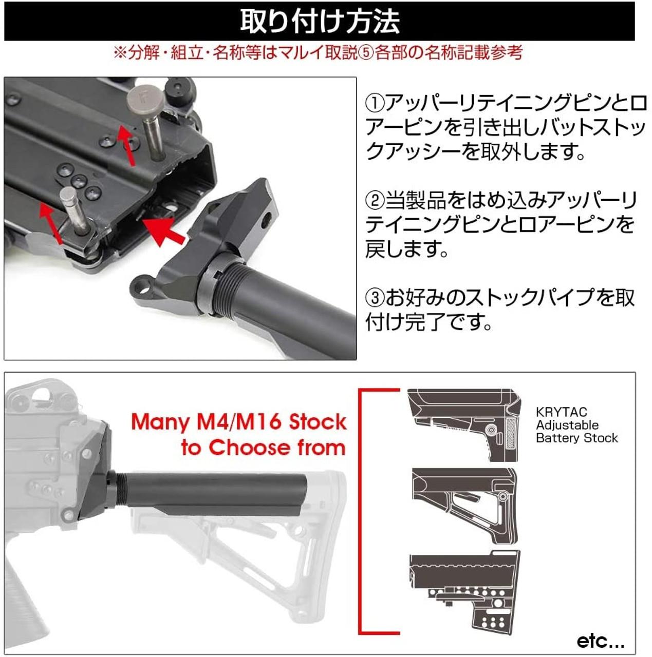 Laylax MK46 Stock Base Set FIRST FACTORY Black
