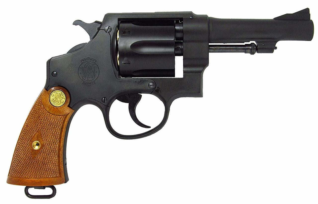 Muzzle right of Tanaka Smith & Wesson M1917 .455 HE2 4inch Custom Heavy Weight Gas Revolver Airsoft Gun