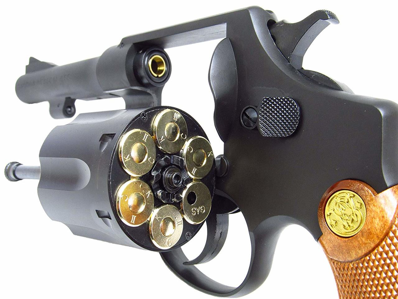 Back left of Tanaka Smith & Wesson M1917 .455 HE2 4inch Custom Heavy Weight Gas Revolver Airsoft Gun