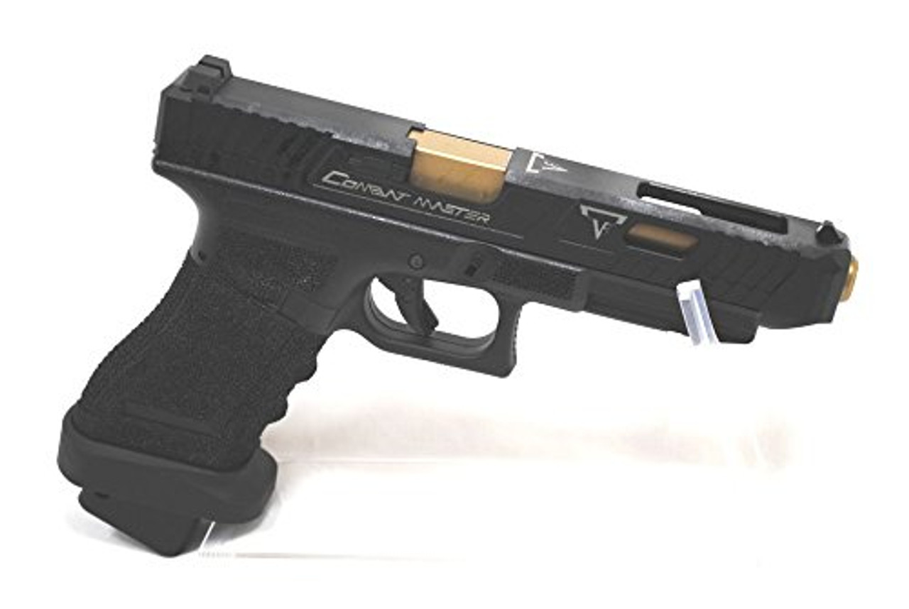 Entire image of BELL TTI type Glock G34 John Wick 2 Combat Master Custom Metal Slide Gas blow back Airsoft Gun