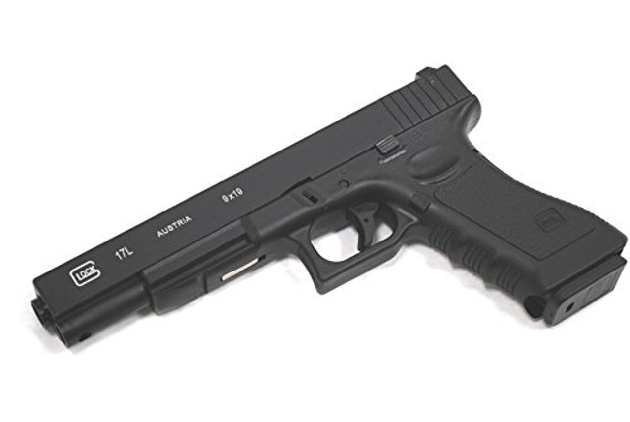 BELL Glock G 17 L long real full engraved Gas blow back Gun metal slide No   764