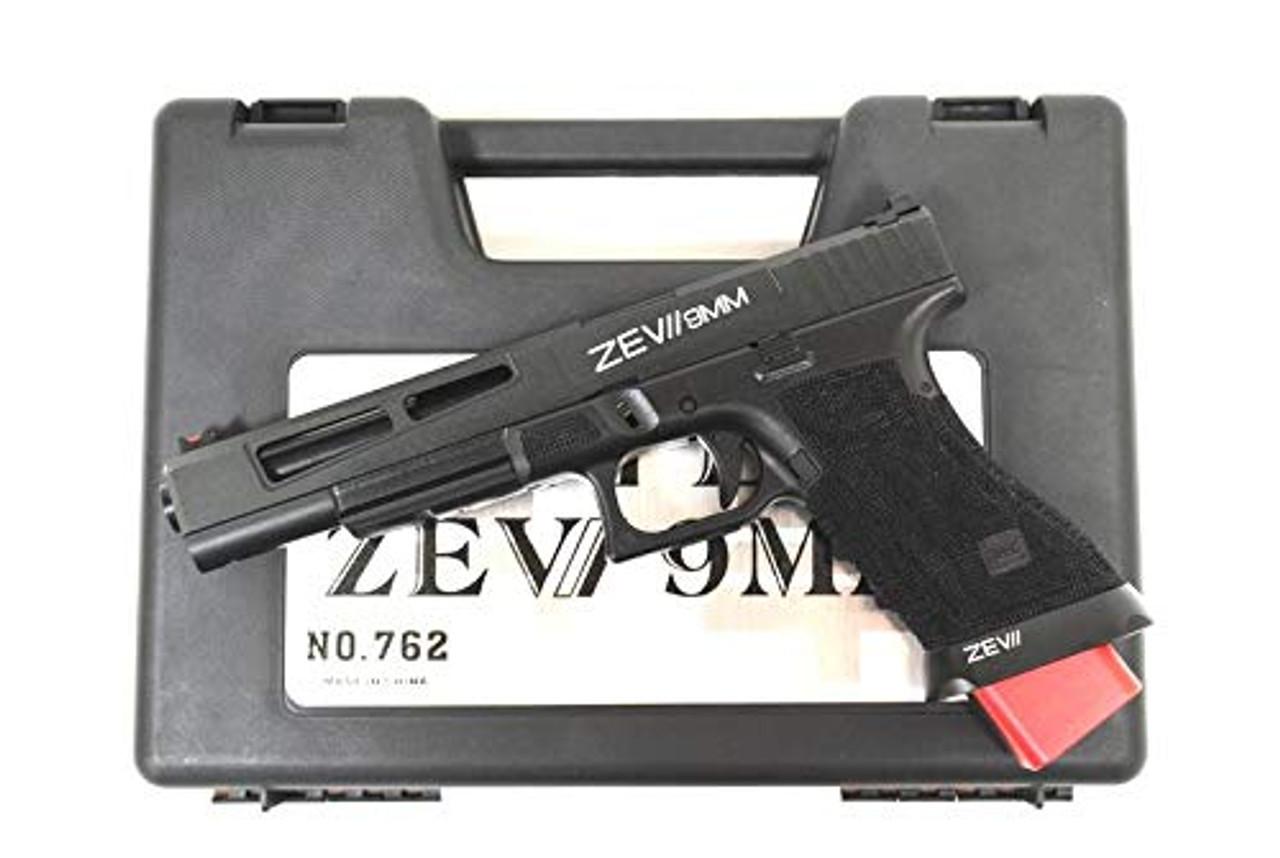 BELL G17L Glock ZEVII 9MM Custom Slide No  762 GBB Airsoft Gun