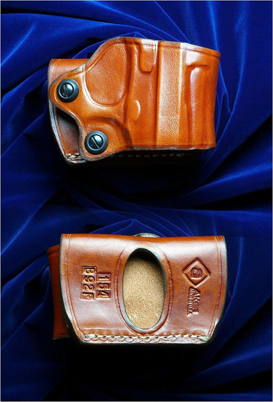 WA Super Real Gun Yaqui slide belt brown right-handed for M92FS