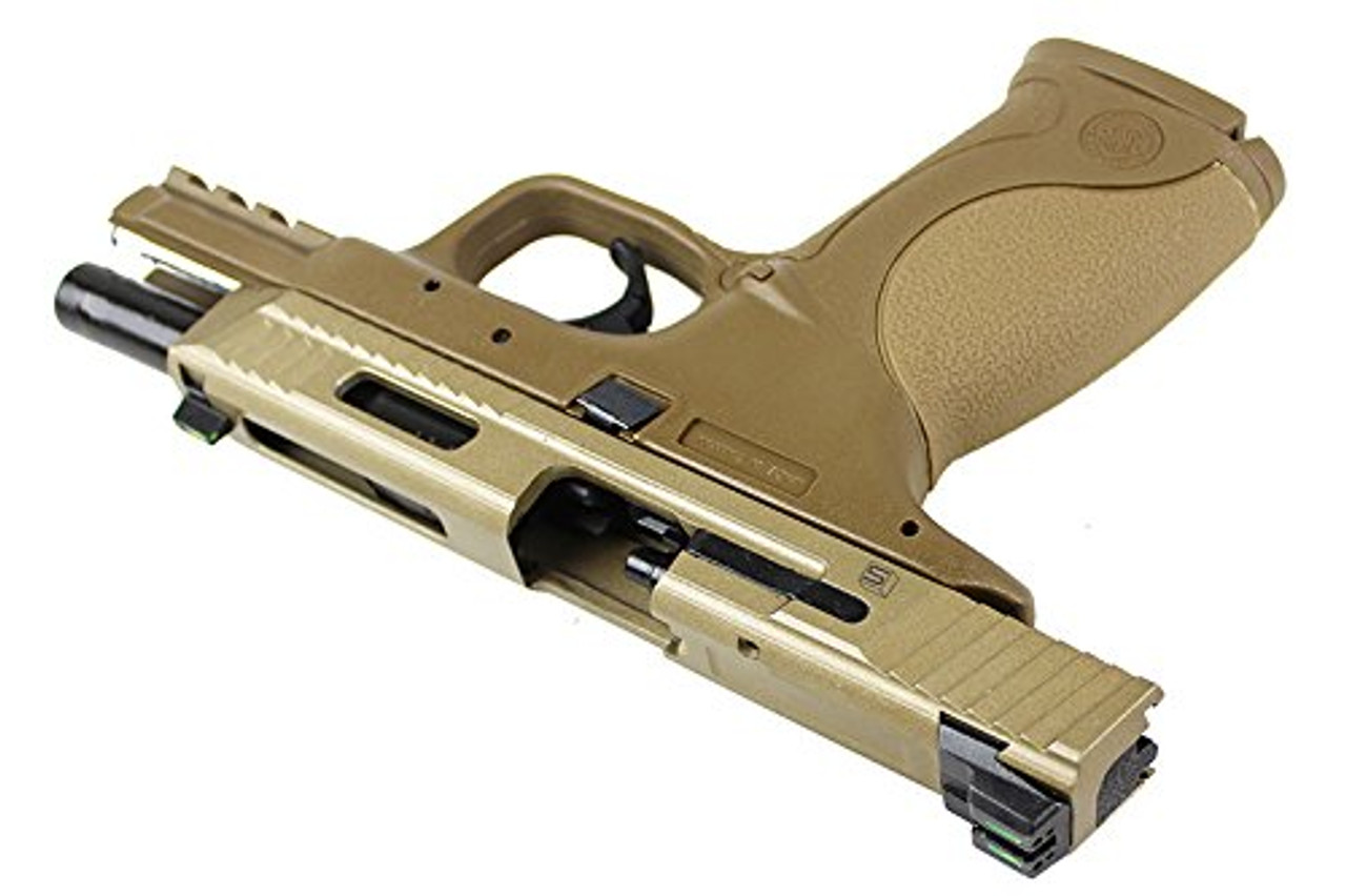 Right side of Walther / StarkArms PPQ M2 Tan GBB Airsoft gun
