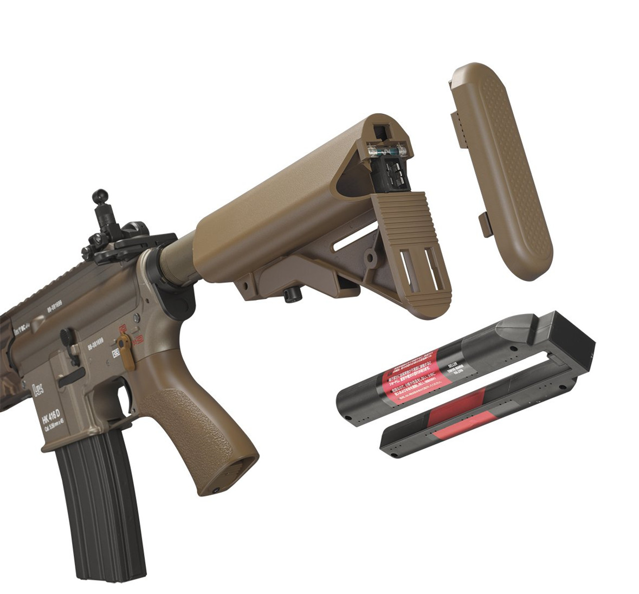 Tokyo Marui HK416 Delta Custom next generation Tan color Airsoft Electric  Machine gun