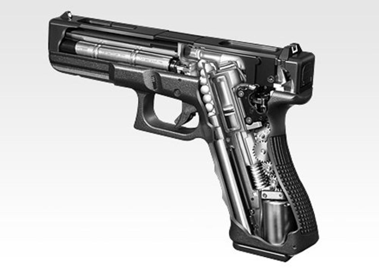 Inside of Tokyo Marui Glock 18C Airsoft electric handgun