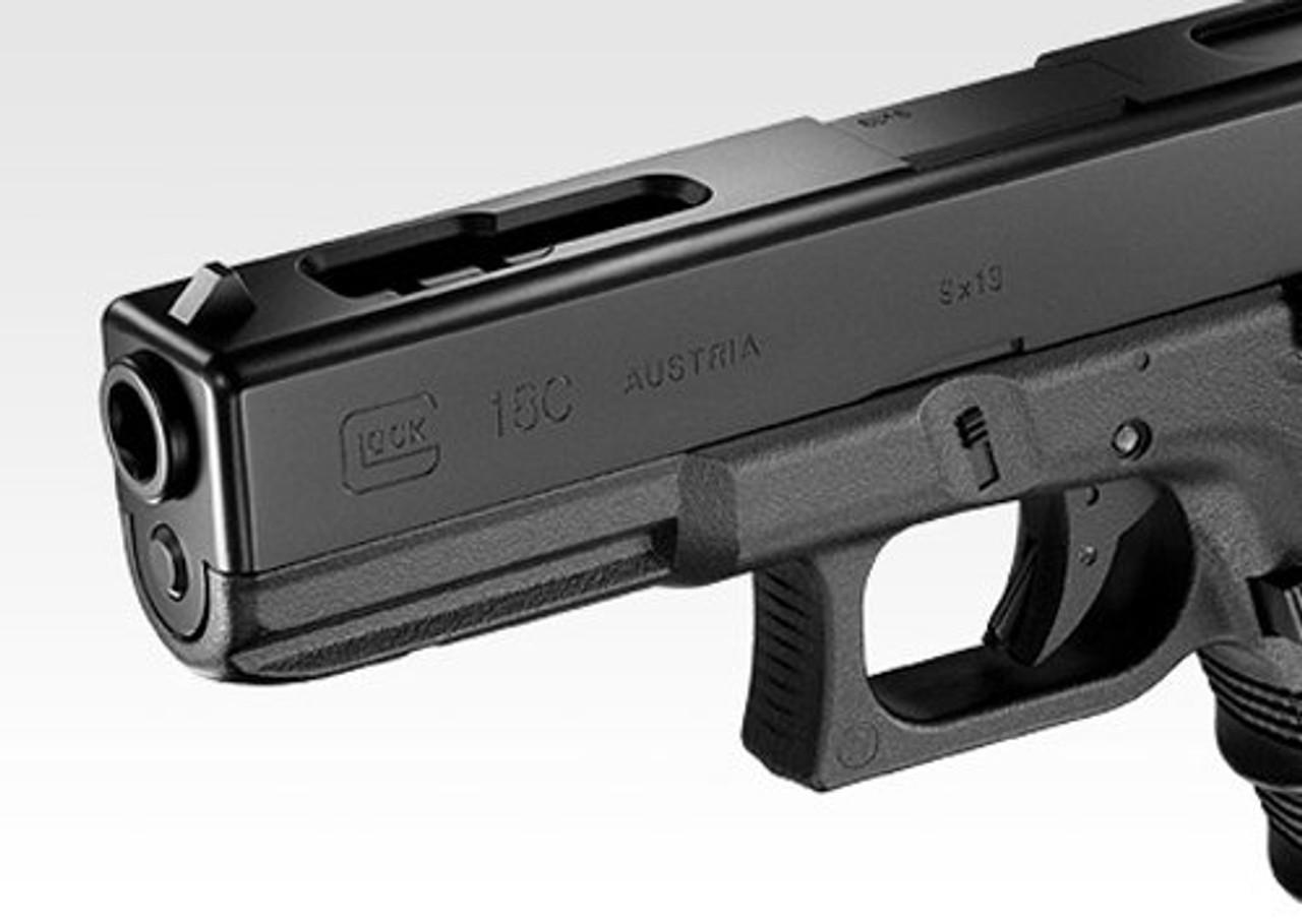 Muzzle of Tokyo Marui Glock 18C Airsoft electric handgun