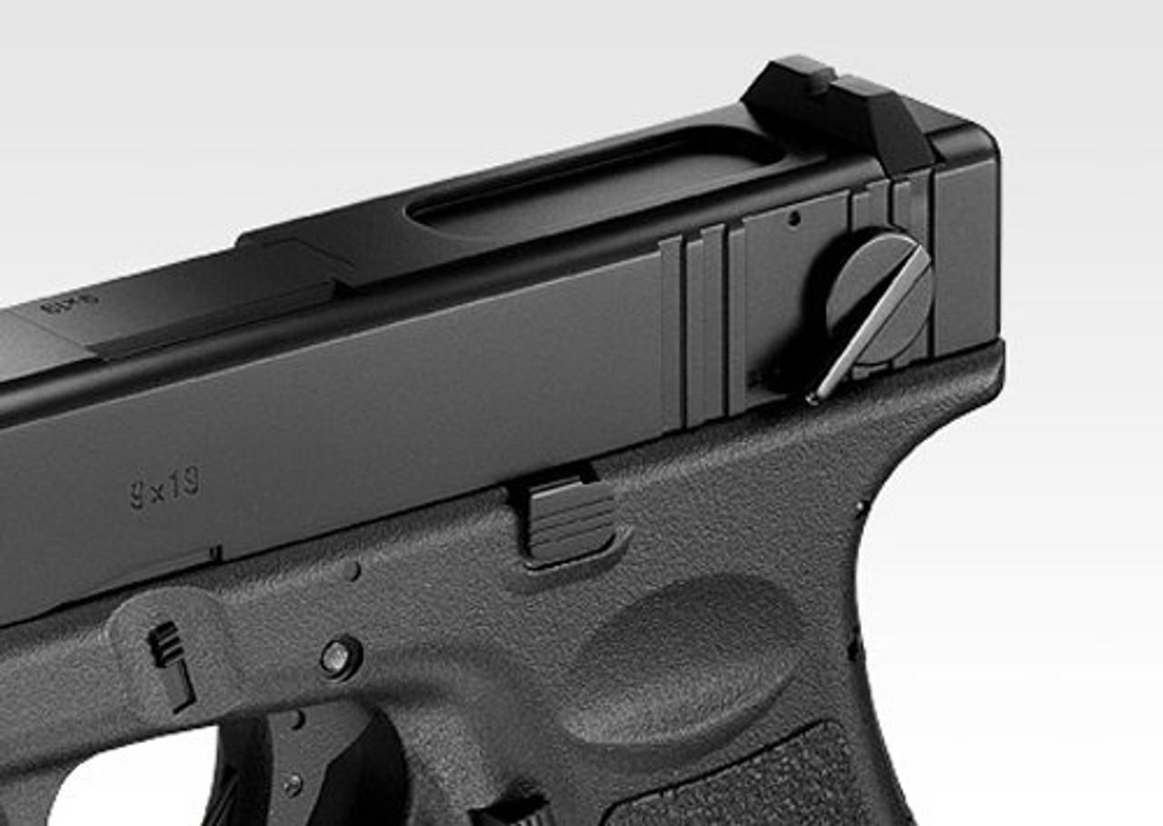 Left side of Tokyo Marui Glock 18C Airsoft electric handgun
