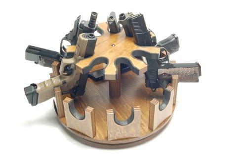 KM Kikaku Rotating Round Handgun rack 9 gun capacity