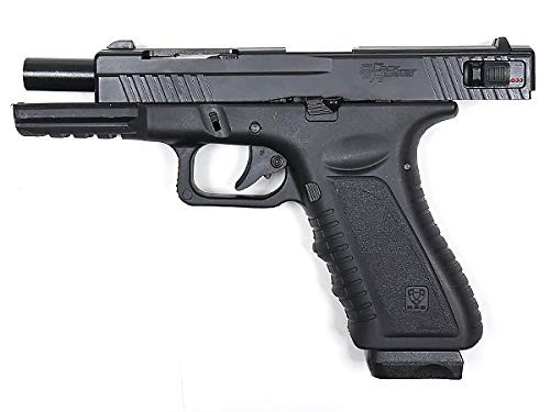 Left side of APS Aluminum slide Ver. CO2 GBB Airsoft handgun BLACK HORNET with cleaning cloth