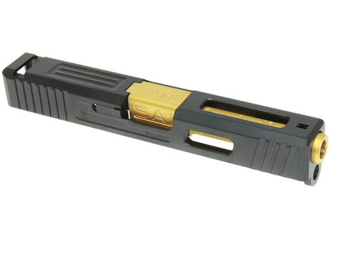 Guns Modify G19 SA Tier1 Style Aluminum Slide & Box Flute Stainless Barrel TIN