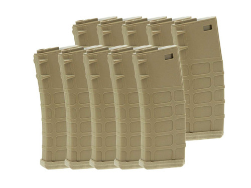 G&P 10 set of GMAG 130Rds magazine AEG M4 FDE