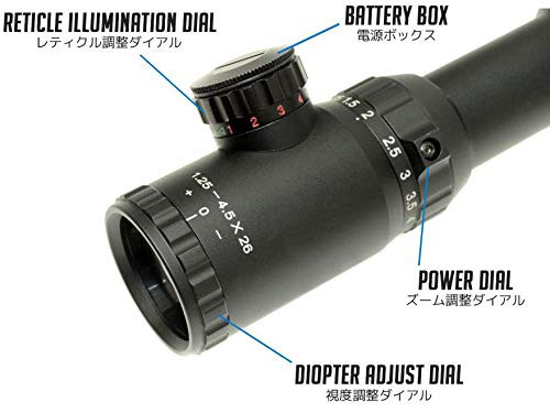 VECTOR OPTICS Swift 1.25-4.5x26 CQB illumination scope