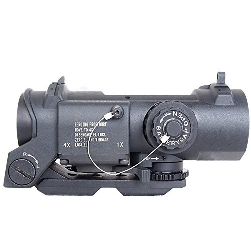 ANS Optical 1x/4x switchable ELCAN SPECTERDR scope black