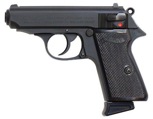 Muzzle left of Maruzen Walther NEW PPK / S Black Model GBB Airsoft gun