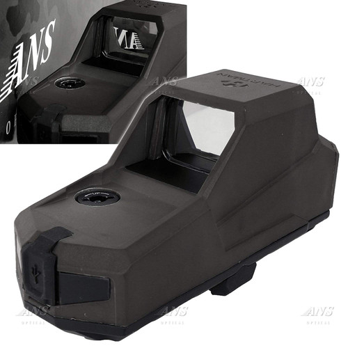 HARTMAN MH1 type USB rechargeable red dot sight black