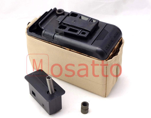 Classic army LMG Minimi FN Minimi M249 sound electric box magazine 1200 series with LMG adapter
