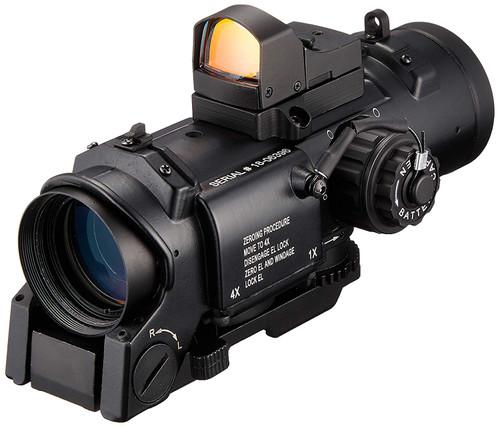 ANS Optical 1x/4x switching ELCAN SpecterDR scope & Dot sight replica set BK