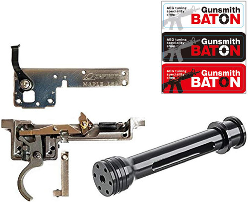 MAPLE LEAF set of CNC Steel Trigger Box for VSR-10 & Duralumin Piston ※Gunsmith BATON sticker is included