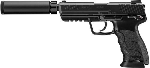 Muzzle left of Tokyo Marui No.93 HK45 Tactical Black GBB Airsoft gun