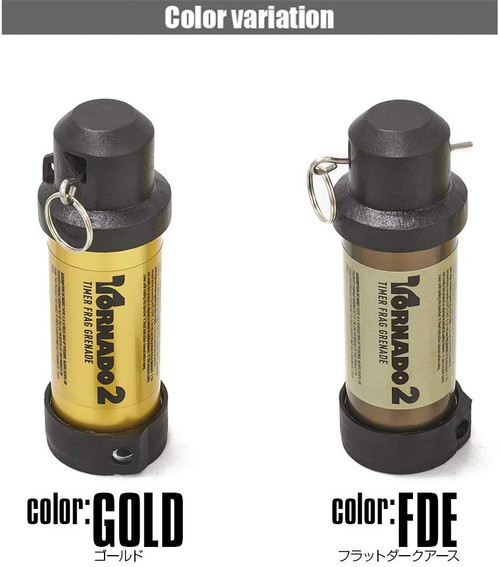 LayLax Airsoft Innovations TORNADO 2 TIMER FRAG GRENADE Gold