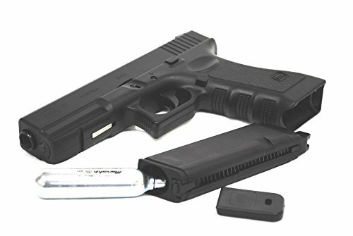 BELL Glock G 17 real laser full engraved Gas blow back Airsoft Gun metal slide CO 2 version  and CO2 Cartridge  (Sold separately)