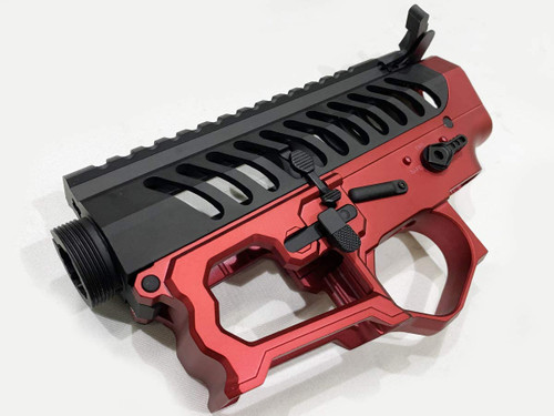 F1 Firearms BDR-15 Electric M4 Skeleton Receiver Set BK / Red