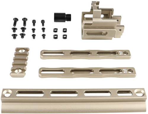 Airsoft Artisan PMM Type SCAR 16/17 M-LOK Rail Section / Extension Set Dark Earth