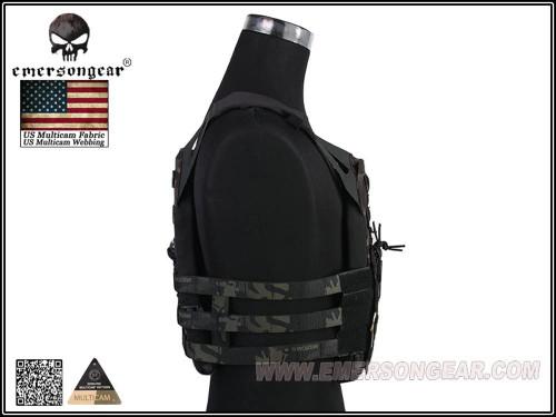 EMERSON JPC Style Plate Carrier Tactical Vest MultiCam Black