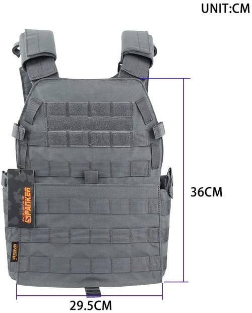 EXCELLENT ELITE SPANKER Plate Carrier Nylon JPC Tactical Vest Gray