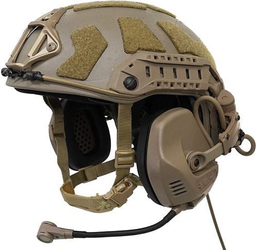 FMA x FALCO Ops-Core Type RAC Tactical Headset 6-pin Dark Earth