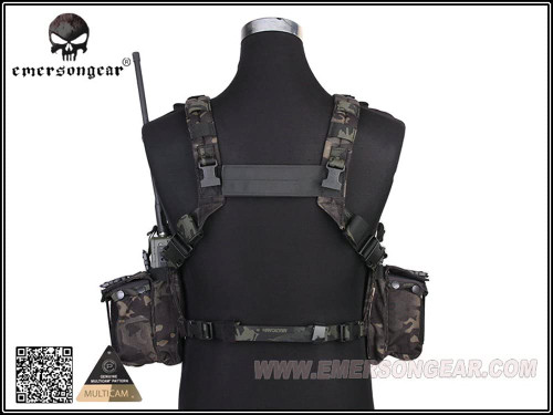 EMERSON 1961A-R Road Bearing Chest Rig Panel MultiCam Black