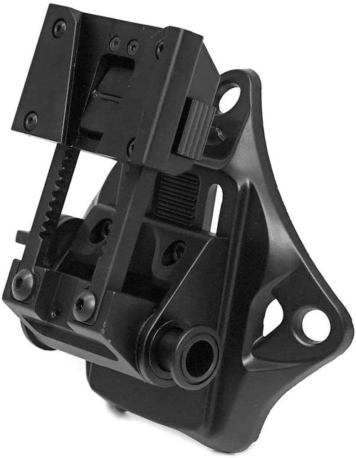 Evolution Gear WILCOX type L4G19 NVG mount + VAS type helmet shroud black