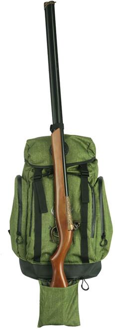 TOURBON Gun Holder Water Repellent Hunting Day Pack Backpack-Green