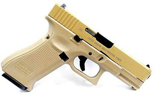 We-Tech G19X Glock SDF stamped Tan color Airsoft GBB gun