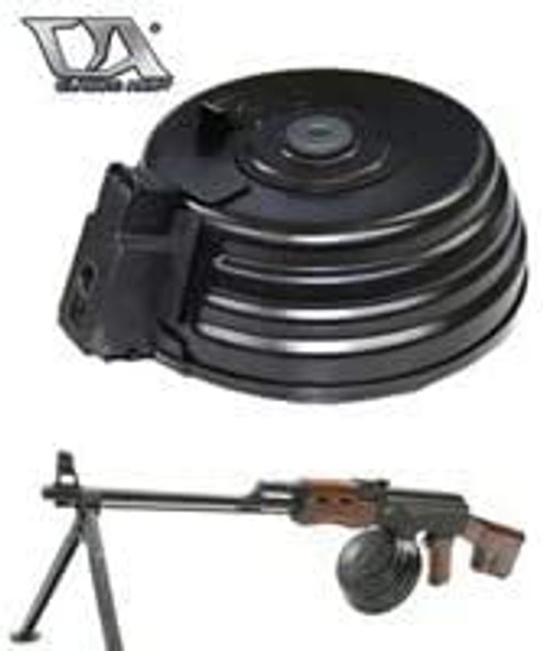 Classic Army AK RPK Series Compatible Auto Tension Type Electric Drum Magazine
