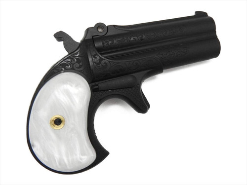 CAW Double Derringer Remington Engraving with Pearl Grip Mule F.C.SP. Ignition Model Gun