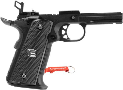 EMG / SAI RED 1911 Aluminum alloy lower frame grip for EMG / WE / AW gas blowback 1911 (black)