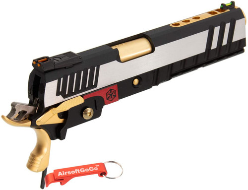 ARMORER WORKS IPSC slide set (silver + black + gold) WE / Marui high capacity 5.1, 4.3 compatible [with key chain]